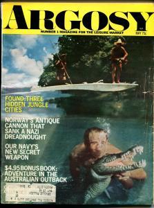 Argosy 6/1971-Popular-Viet Nam-Crocodiles-exploitation-pulp fiction-VG