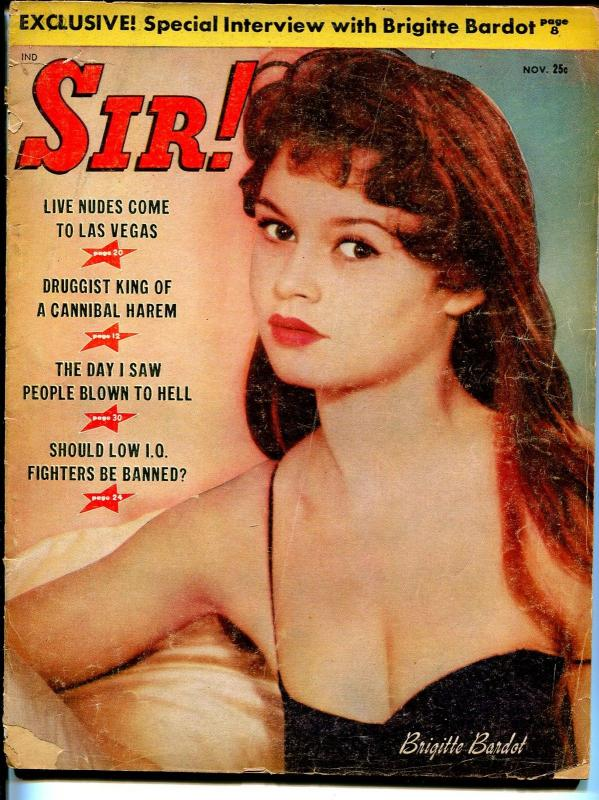 Sir! 11/1958-Bridget Bardot-dope pusher-nudist-Jerry Lee