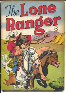 Lone Ranger-Four Color Comics #136-1946-Dell-red shirt & blue pants-VG-