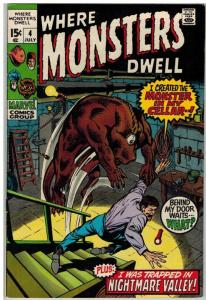 WHERE MONSTERS DWELL 4 FN July 1970
