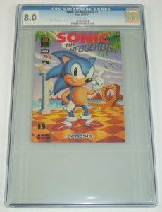 Sonic the Hedgehog #1 CGC 8.0 mini promo sega genesis comic fall 1991