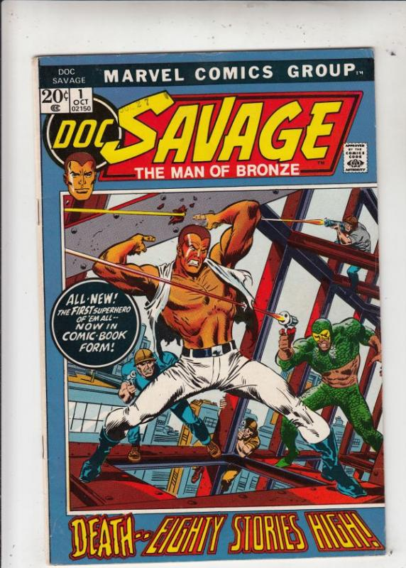 Doc Savage the Man of Bronze #1 (Oct-72) FN/VF Mid-High-Grade Doc Savage