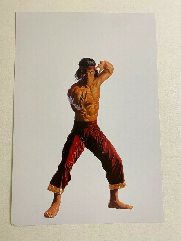 Shang-Chi Master of Kung Fu Marvel Comics poster by Alex Ross