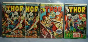 Four 1973 Bronze Age MIGHTY THOR Comics Marvel Issues #209 #214 #215
