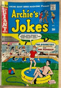 ARCHIE GIANT SERIES #154 (Archie, 6/1968) GOOD (G)  Archie's Jokes; pool cover