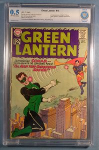 Green Lantern #14 CBCS 0.5 1st Appearance/Origin Sonar Silver Age