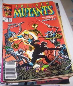 NEW MUTANTS # 80 1989  marvel   x-men   asgard + valkyre  VALHALLA**