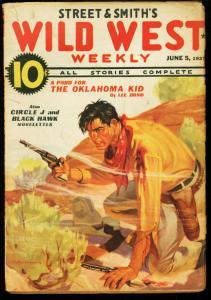WILD WEST WEEKLY JUNE 5 1937 OKLAHOMA KID PULP VG
