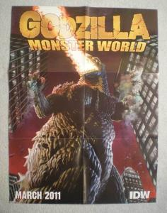 GODZILLA MONSTER WORLD Promo Poster, 18x24, Unused, more in our store