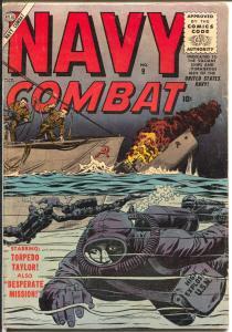 Navy Combat #9 1956-Atlas-Torpedo Taylor-Don Heck-Davy Berg-Joe Sinnott-VG