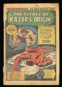 Daredevil #13  Marvel Comics Coverless