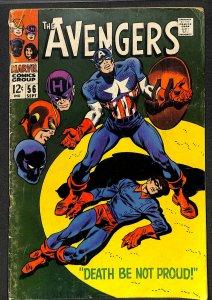 Avengers #56 VG+ 4.5 Marvel Comics Thor Captain America