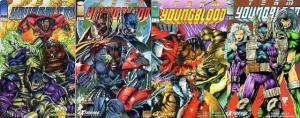 TEAM YOUNGBLOOD (1993 IMAGE) 1-4  vs GIGER! COMICS BOOK