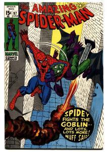 AMAZING SPIDER-MAN #97 comic book 1971-GREEN GOBLIN-MARVEL-Drug issue