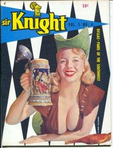 Sir Knight #4 1958-Donna Long-Nikki Gibson-cheesecake-Russ Meyer-VF