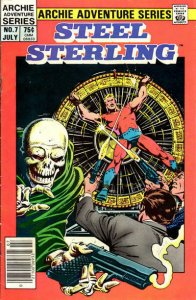 Steel Sterling #7 (Newsstand) VG; Red Circle   low grade comic - save on shippin