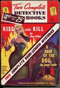 Two Complete Detective Books #57 7/1949-hardboiled pulp-Gross-Good Girl art-VG