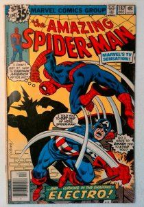 Amazing Spider-Man #187 Marvel 1978 FN Bronze Comic Book Captain America Electro