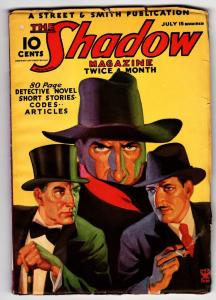 SHADOW 1935 July 15 -HIGH GRADE- STREET AND SMITH-RARE PULP FN+