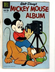 Four Color 1057 FN Dell Silver Age Comic Book Mickey Mouse Album Walt Disney JL9