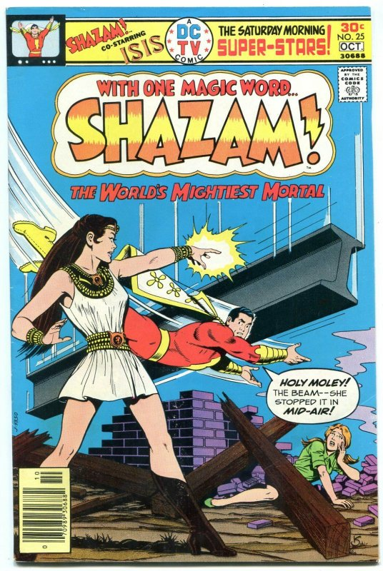SHAZAM #25 1st appearance of ISIS-comic book 1976-DC FN