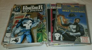 Punisher War Journal #2-29,32,34,36-52,54-58,61,65 Jim Lee, comic book lot of 54
