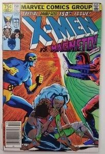 The Uncanny X-Men #150  Magneto Appearance - Newsstand Variant - NM - Marvel '81