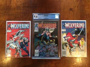 High Grade Comic Lot! Wolverine #1 9.6 CGC. 2 And 3 M/NM!