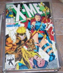 X Men  # 6 mar 1992 marvel  wolverine vs sabertooth ! + psylocke jim lee