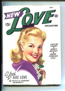NEW LOVE-AUG 1946-ROMANTIC PULP FICTION-PIN-UP GIRL COVER-DEMAREST-vg