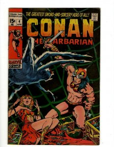 Conan The Barbarian # 4 VF Marvel Comic Book Barry Smith Kull King Sword NP16