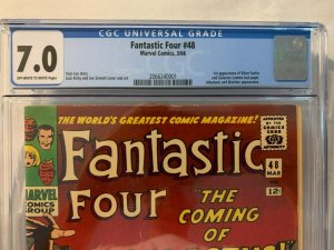 FANTASTIC FOUR #48 CGC 7.0 OW/WH PAGES 1ST APP SILVER SURFER + GALACTUS 1966