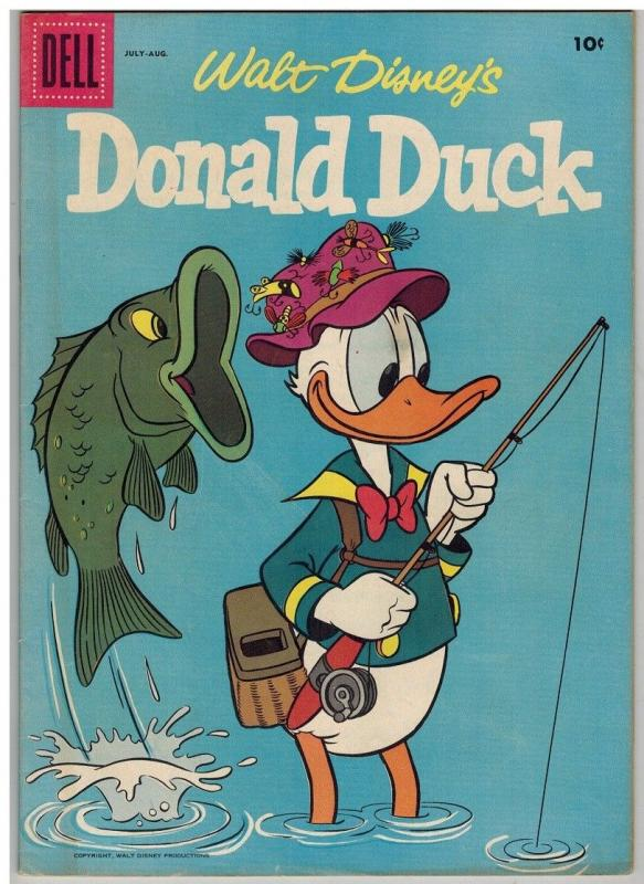 DONALD DUCK 54 VG-F July-Aug 1957 FORBIDDEN VALLEY