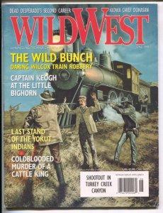 Wild West 6/1999-Primedia-Wild Bunch train robbery cover-Capt Keogh-Little Bi...