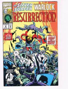 Silver Surfer Warlock Resurrection # 2 VF Marvel Comic Books Starlord Thanos S84