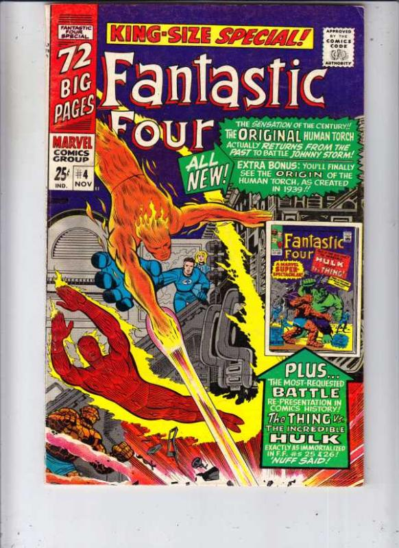 Fantastic Four King-Size Special #4 (Nov-66) VF+ High-Grade Fantastic Four, M...