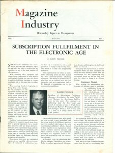 Magazine Industry Vol. 2 #1r 6/1951-industry inside info-publication research-FN