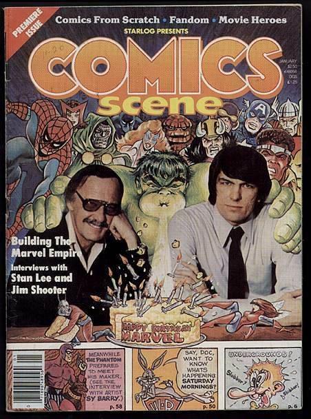 COMICS SCENE   1 STAN THE MAN/JIM SHOOTER1981