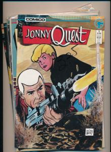 COMICO Lot of 5 JONNY QUEST #1 Classics, #1,2,4,5,6, VF (PF66)