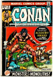 Conan the Barbarian #21 (Marvel, 1972) VG