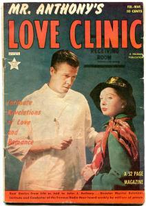 Mr. Anthony's Love Clinic #4 1950- Rare Golden Age Romance- VG-