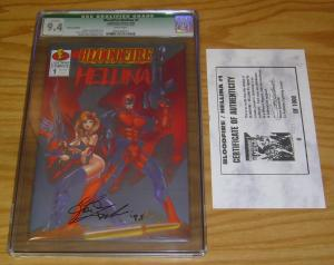 Bloodfire/Hellina #1 CGC 9.4 platinum edition variant signed with COA (581/1000)