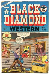 BLACK DIAMOND WESTERN #30 1952 LEV GLEASON MASKED HERO G-