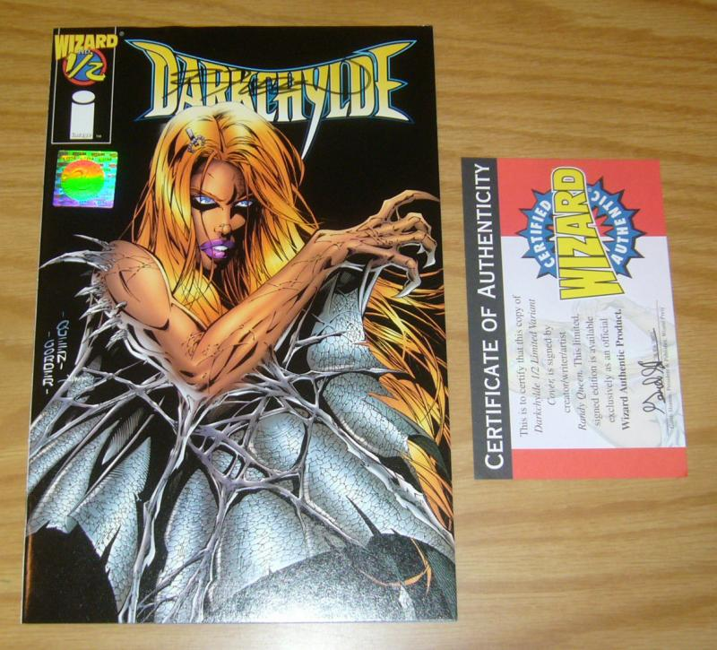 Darkchylde #½ VF/NM signed by randy queen with COA - wizard half 1/2 image comic