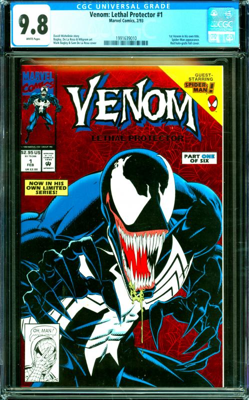 Venom: Lethal Protector #1 CGC Graded 9.8 1st Venom in His Own Title
