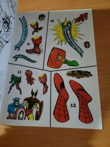 Marvel Super Heroes Secret Wars Sticker Adventures ~ NOT USED ~ 1984 Marvel Doom