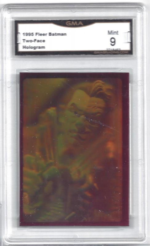 1995 Fleer Batman Two-Face Hologram Promo Insert Card - Graded Mint 9