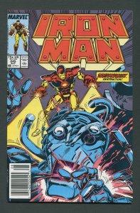 Iron Man #245  / 9.0 VFN/NM  Newsstand  August 1989