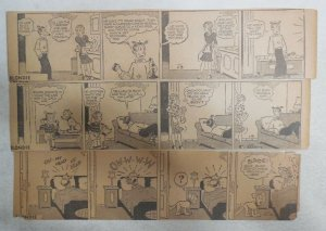 (306) Blondie Dailies by Chic Young from 1940 3 x 10 inches Complete Year !