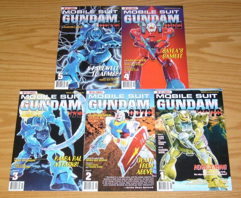 Mobile Suit Gundam 0079 Part 2 #1-5 VF/NM complete series - viz comics manga set